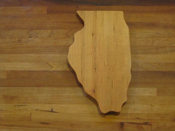 state shaped cutting board illinois cherry. Black Bedroom Furniture Sets. Home Design Ideas