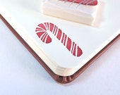 candycane - hand carved stamp