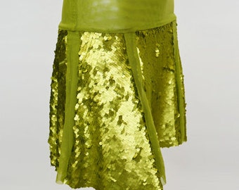 Matte Sequin Valerie Swing Skirt - 4 COLORS AVAILABLE