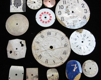 Vintage Antique Watch Dials Steampunk  Faces Shabby chic DG 103