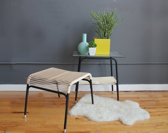Ames Aire Minimal String & Metal Ottoman