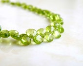 Peridot Briolette Gemstone Faceted Heart Bright Green 5mm 75 beads Full strand Wholesale