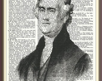 Thomas Jefferson 3rd U.S. President///Vintage Dictionary Art Print---Fits 8x10 Mat or Frame
