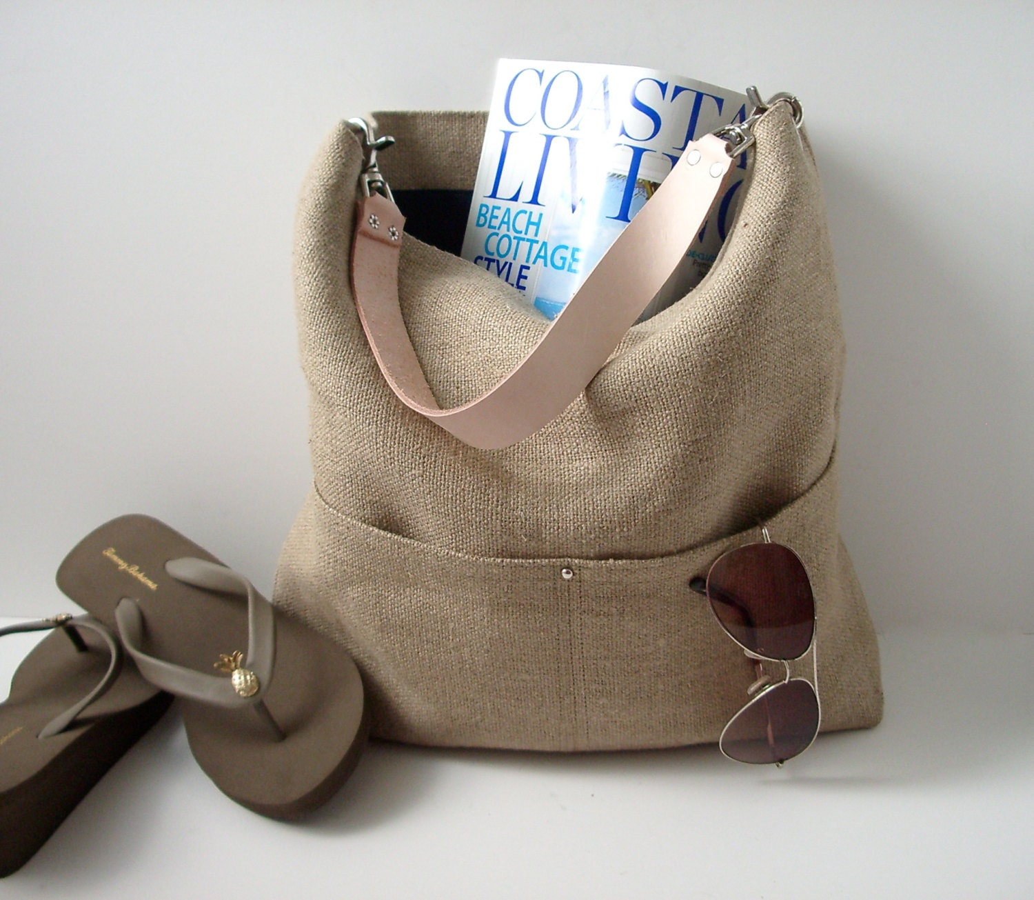 Resort Tote Summer Beach Bag Bucket Tote Hobo Tote Linen