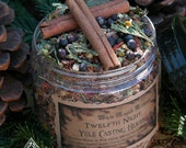 Yule Twelfth Night Casting Herbs 16oz . Yule Bonfires . Winter Solstice . With Traditional Woods, Fruits and Berries