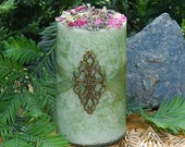 Goddess Grove . Herbal Alchemy Candles . Queen of the Forest
