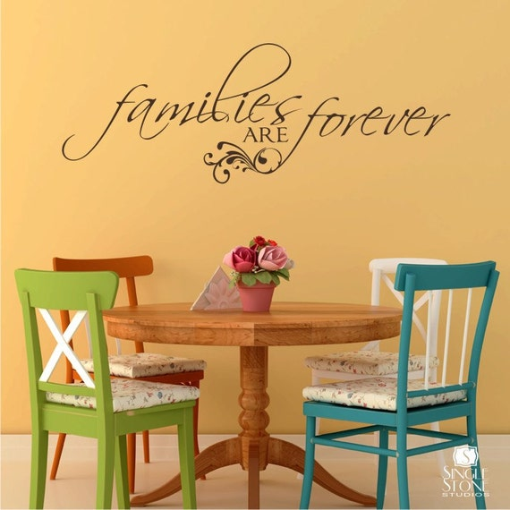 Families are Forever Wall Decal Quote - Vinyl Text Stickers Art