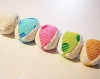 Organic Sensory Fabric Ball Toy Pastel Baby Easter Egg Gift Toddler