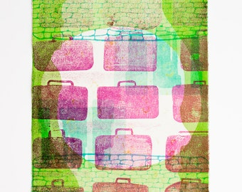 Baggage--Hand-Pulled Letterpress Print