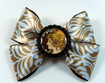 Art Nouveau Mucha Hair Bow
