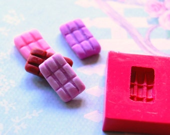 1/12 scale chocolate bar Mold/Mould1 for Resin, Polymer clay & Air dry Clay 1,3 cm x 0,7 cm x 0,2 cm thickness (Ref. 60)
