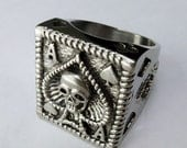 Ace of Spades Ring Stainless Steel size 9 only