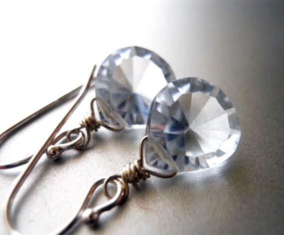 Simple drop earrings drop earrings simple drop Blue Diamond