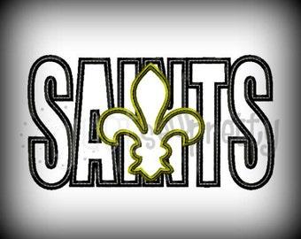 Saints Silhouette Embroidery Applique Design