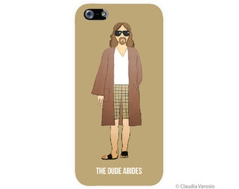 The Dude Abides illustrated Iphone case