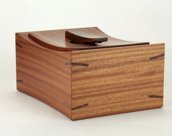 Wooden Keepsake Box Made In Sapele