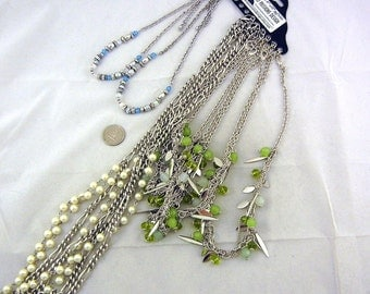 CHAINS- N403 8 Silver-tone Various Specialty Finished Fashion Necklace Chain