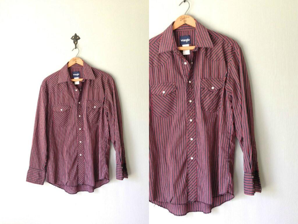 vintage wrangler shirt 1980s mens clothing western pearl