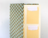 MADE TO ORDER Chevron Wedding Guest Book with LIbrary Cards - You pick the card count.