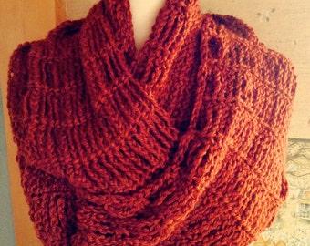 Cinnamon Girl Infinity Cowl Chain Link Style Crochet PDF PATTERN