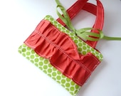 Crayon Bag - Kids Crayon Purse - Green and Pink