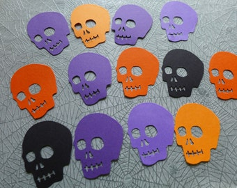 Lucky 13 Halloween Colors Skull Die Cuts