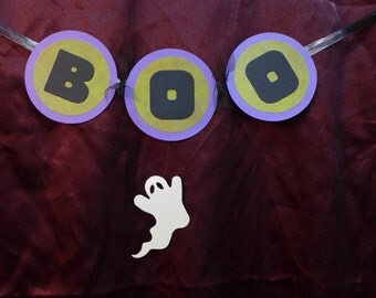 BOO Little Halloween Banner with GHOST