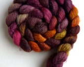 Mixed BFL/ Silk Roving - Hand Painted Spinning or Felting Fiber, Simple Answer