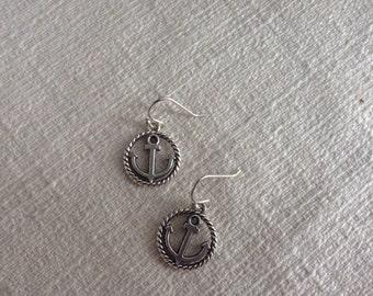 Anchor Pendant Earrings