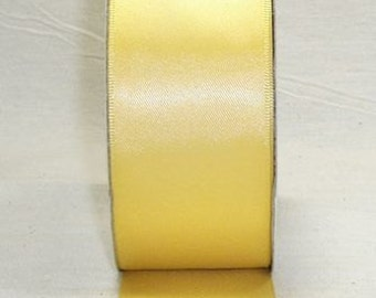 "5/8"" x 100 yards Double Face Satin -  DAFFODIL / YELLOW"
