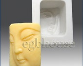 """2D silicone Soap/Guest/clay/cold porcelain/candle mold-Mini Buddha close-up - free shipping -""""Buy only from the original designer"""