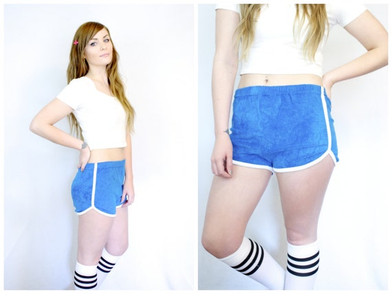 70s Terry Cloth Athletic Booty Shorts / Vintage By
