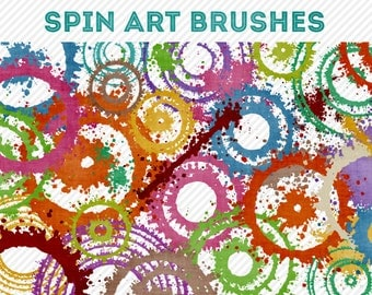 spin art photoshop brushes - for photography or scrapbooking - commercial use allowed - automatic download