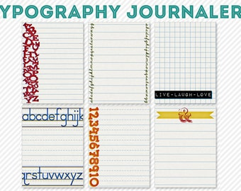 my life 365 - typography life project pocket journaling cards - digital scrapbooking