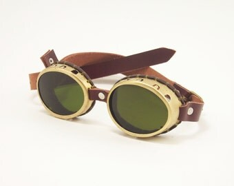 Real Brass Steampunk Goggles Sunglasses LARP Victorian Cosplay