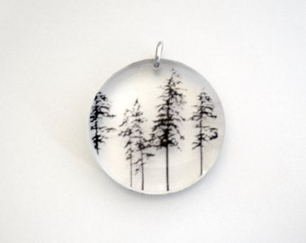 Round Forest Pendant (Chain Sold Separately)