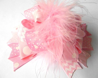Princess Pink Hair bow Over the Top Boutique Style