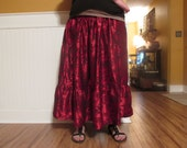 Red and black gypsy skirt long