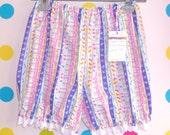 Cute Birdy stripe Mini short  Bloomers - UK 6 8 10