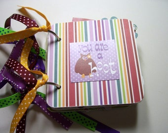 Friends Mini Scrapbook Album, Friends Scrapbook, Friends photo album, Friends Brag book, You are a hoot, friends album