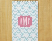 Personalized Monogram Journal Notebook - Waves with Monogram