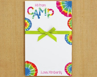 Tie Dye Camp Stationery