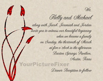Wedding Invitations for Blended Family
