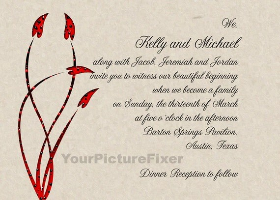 Blended Family Wedding Invitations: Wedding Invitations/ Blended Family