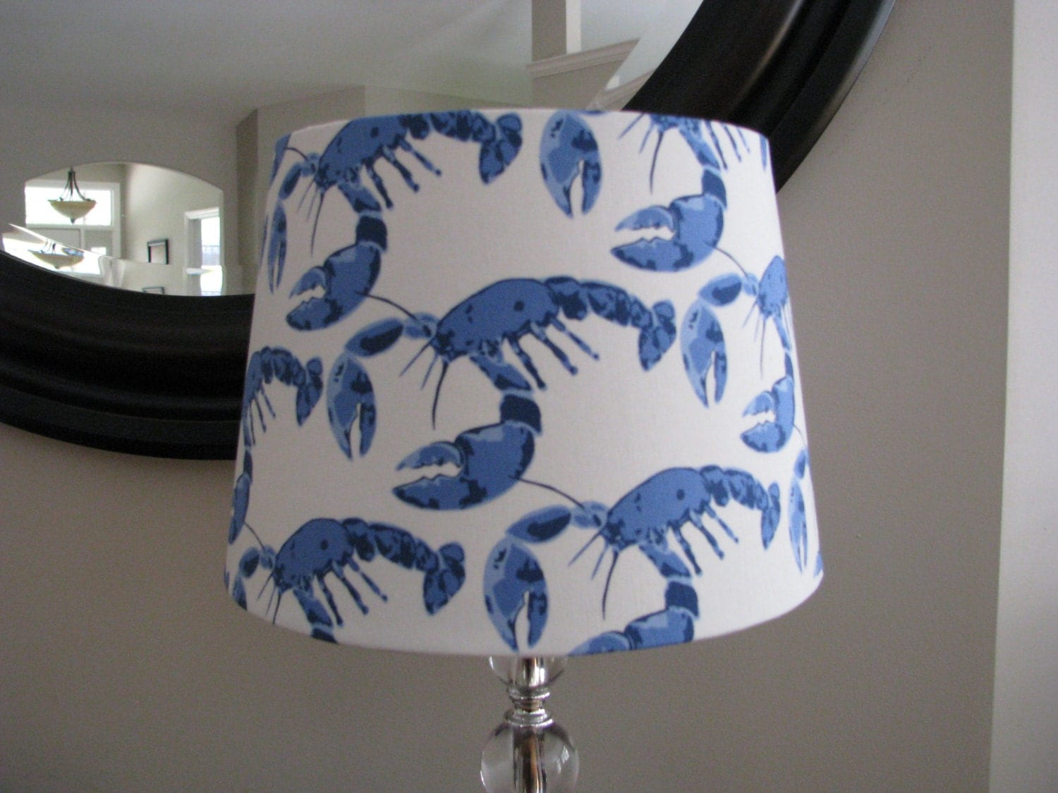 lamp shade lobster pot beach decor. Black Bedroom Furniture Sets. Home Design Ideas