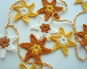 Falling Stars Crochet Garland