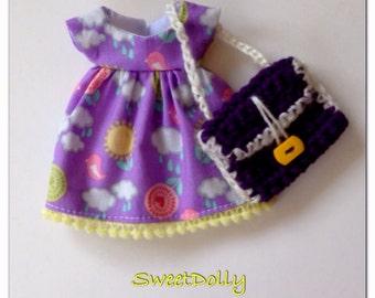 SALE - Spring Dress & Bag for Blythe