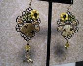 Crazy Bee Hive Earrings