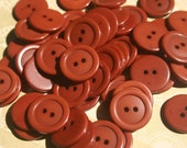 """Rustic Brown Buttons - Two Hole Sewing Button - 3/4"""" Wide - 85 Buttons - DESTASH SALE"""