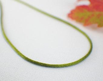 "Olive green satin necklace cord single 1 pc avocado 14 15 16 18 20 22 24 26 28 30 32 34 36 inch "" copper gold silver cord necklace 1.5mm"